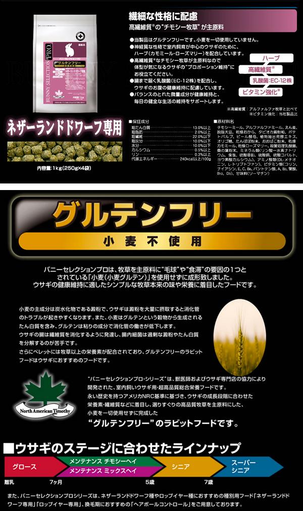 【店頭販売商品】バニーセレクションプロ ネザーランドドワーフ専用 1Kg