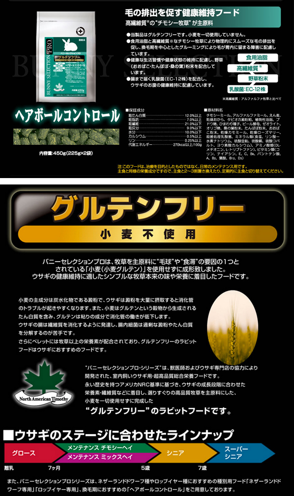 【店頭販売商品】バニーセレクションプロ ヘアボールコントロール 1Kg