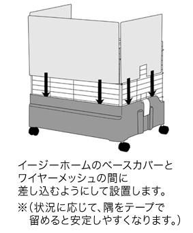 イージーホーム60用 クリアー3面カバー