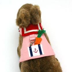 うさぎさんのセーラーカラーハーネス(ピンク)
