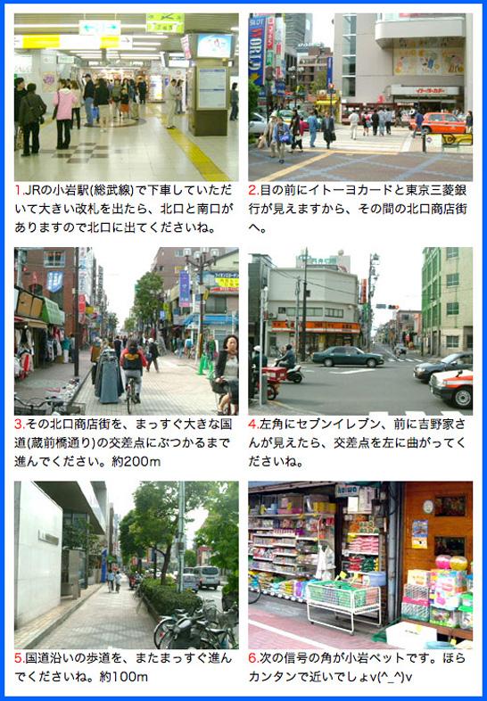 JR小岩駅からの地図